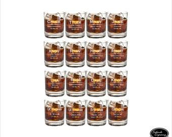 16 Groomsmen Whiskey Glasses, SHIPS FAST, Custom Groomsmen Whiskey Glasses, Personalized Groomsmen Whiskey Glasses, Etched Groomsmen Glasses