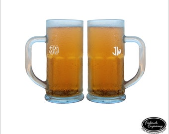 34 oz Monogram Beer Glass, SHIPS FAST, Personalized Beer Glasses, Custom Beer Stein, Monogram Beer Glasses, Monogrammed Glasses