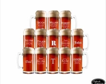 13 Beer Mugs, SHIPS FAST, Personalized Beer Mugs, Engraved Personalized Beer Mugs, Custom Personalized Beer Mugs, Etched Beer Mug Glasses