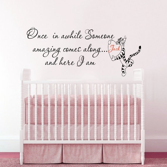 Stickers muraux citations winnie l 39 ourson wall decal par for Stickers phrase chambre bebe