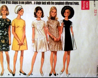 "Butterick 5086  Misses' One Piece Dress   Bust 32.5""  UNCUT"