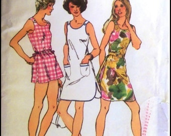 """Simplicity 5017  Misses' Mini Dress Or Top And Shorts   Bust 34""""  UNCUT"""