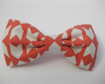 Dog Bow Tie, Coral Arrow,  Removable and Adjustable, Bow Tie for Dogs and Weddings, Made to Order in Your Choice of Size