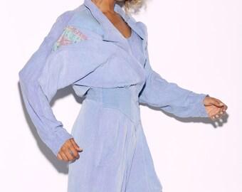 SALE Vintage 80's IIF Purple Jumpsuit