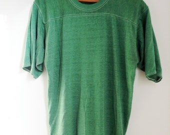 Vintage Green Athletic T-Shirt - Large