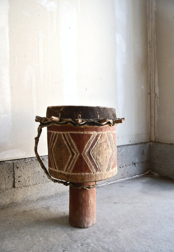 Authentic South African Tribal Drum Vintage By ThEeRabbitHole