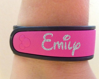 Glitter Name Decal for your Disney Magic Band - Completely Customizable