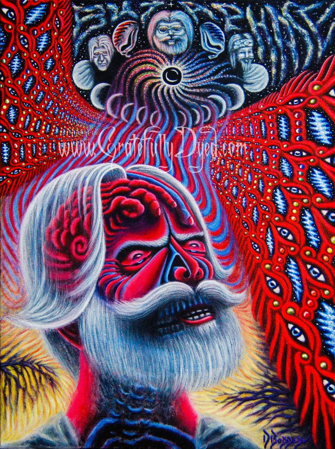 Grateful dead painting alex grey inspired visionary art for Alex grey coloring pages