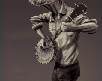 Pete Seeger Portrait