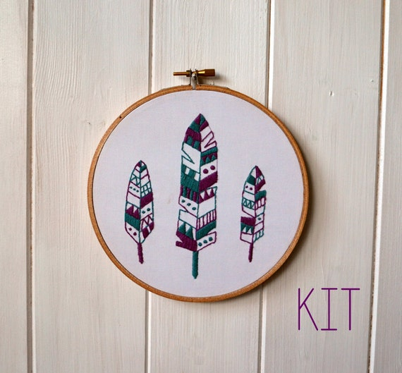Embroidery Kit Feathers
