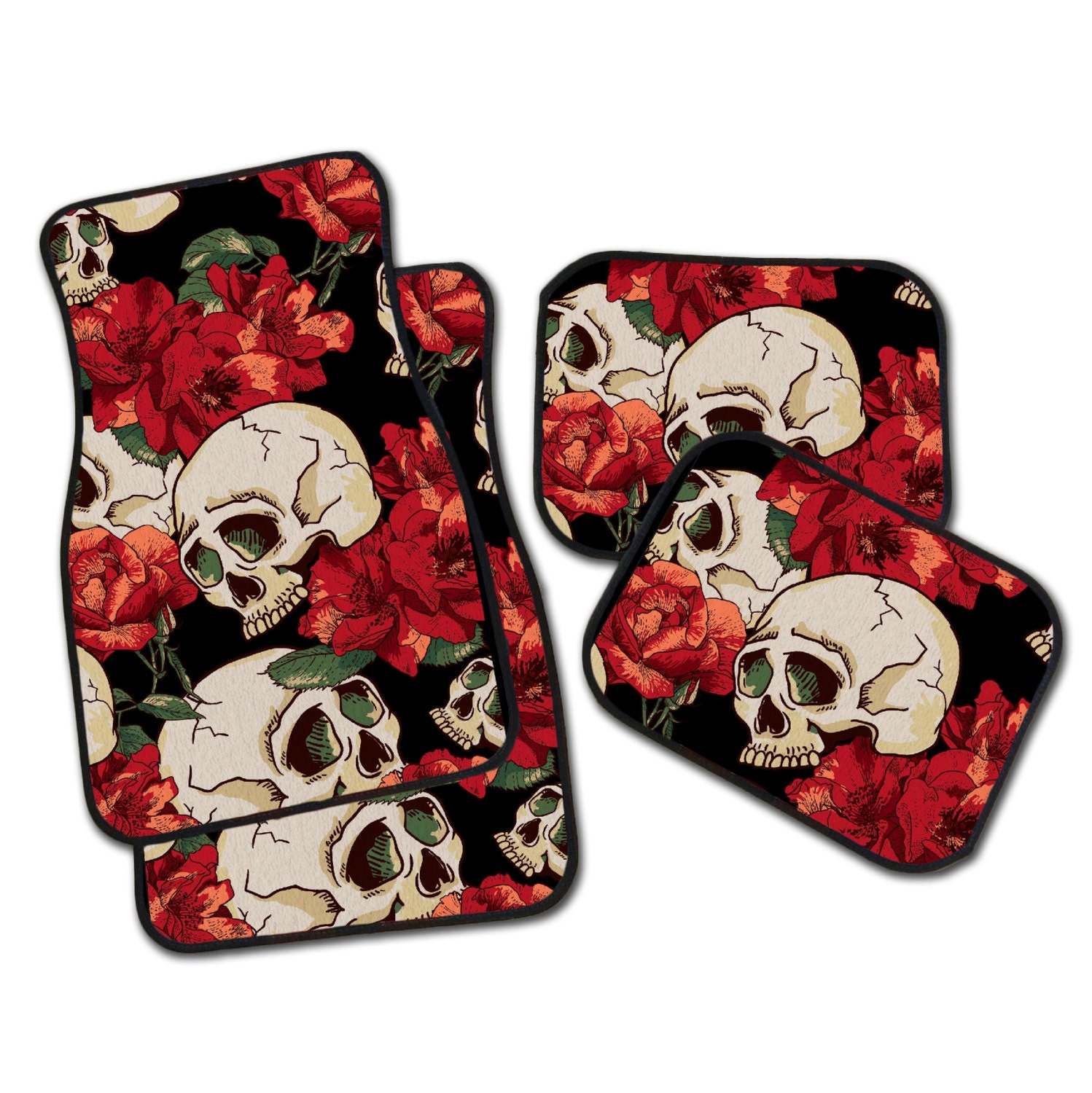 Red Skull Car Seat Covers