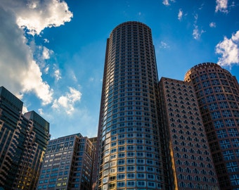 Skyscrapers in Boston, Massachusetts - Urban Photography Fine Art Print or Wrapped Canvas