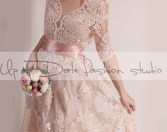 Blush evening dress | Etsy