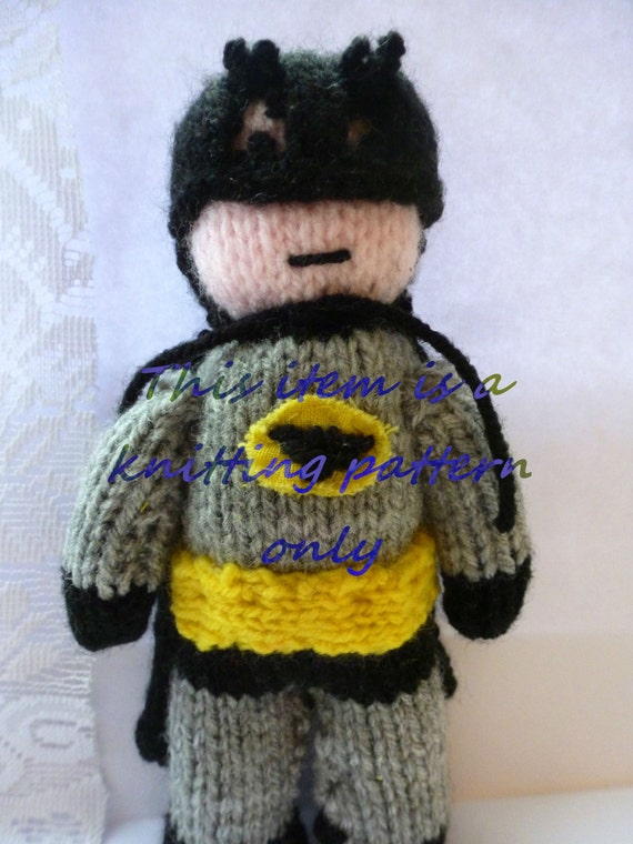 Knitting Pattern Batman Jumper : PDF knitting pattern: Batman