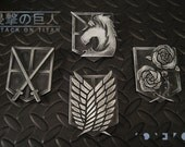 Attack on Titan - Shingeki no Kyojin - Military Emblem Badges -  Finished Pieces