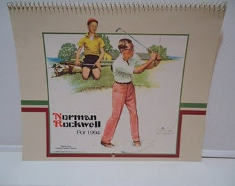 3 Vintage Norman Rockwell Collectible Art Calendars, Rare Ephemera Set of Classic Artwork