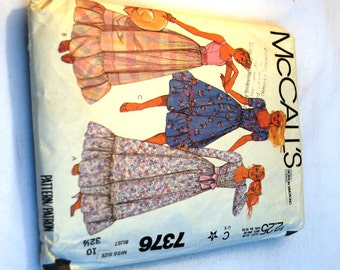 Vintage 1980s McCalls 7376 ruffle sweetheart neckline ,dress sewing pattern