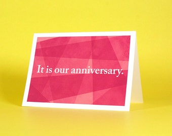 Unenthusiastic Anniversary Card