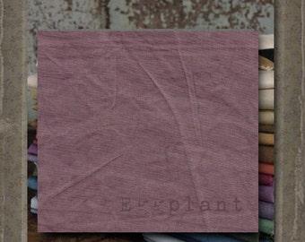 Fabric 1 YARD: Aged Muslin Cloth (New) - EGGPLANT 137 Marcus Fabrics