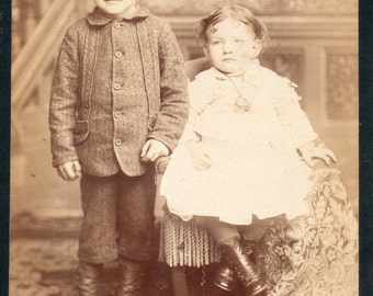 Antique Photo of Darling Brother and Sister