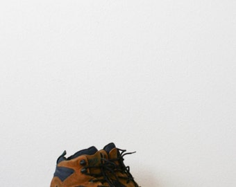 vintage 90s suede nike hiking shoes