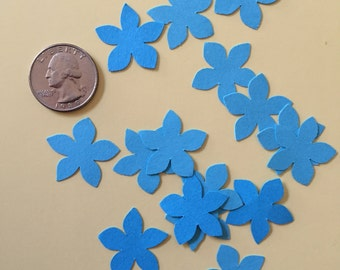Light Blue flower Confetti, Decoration, Cutout, Die Cuts