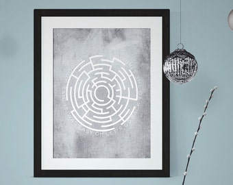 The Scientist, Coldplay Art Print, Coldplay Lyrics, Song Lyric Poster, Music Lyric Art, Music Art Print, Wall Art, Room Decor, 4x6, 5x7,8x10