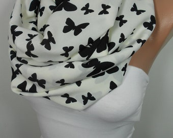 Butterfly Scarf Infinity Scarf Animal Scarf Spring Summer Fall Winter Scarf Women Fashion Accessories Christmas Gifts For Her For Mom Wife