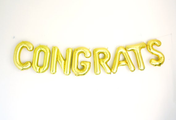 congrats letter balloons banner kit grad party decor by