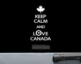 Slap-Art™ Keep Calm And Love Canada Vinyl Decal Sticker funny joke car truck