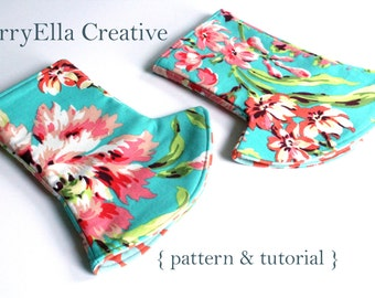 Corner Drool Pad Pattern & Tutorial INSTANT DOWNLOAD - Ergo - Tula