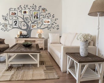 "Wall Decal - Family Tree Wall Decal -  Tree decal - Large: approx 90""H x 100""W A0030"