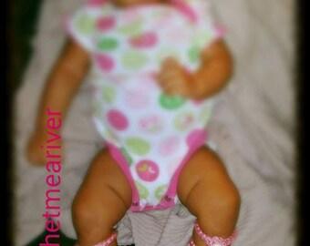 Crochet Baby Barefoot Gladiator Sandals