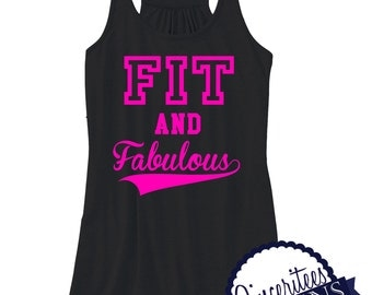 Workout Tank Fit and Fabulous Ladies Racerback Tank