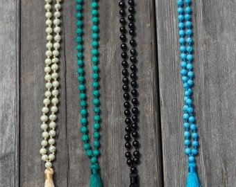 Beaded tassel necklace - Gypsy necklace
