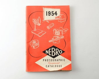 Vintage Nebro Photographic Equipment Catalogue 1954 Edition - Cameras, Tripods Etc.