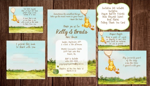Printable winnie the pooh baby shower story book baby shower il570xn filmwisefo Images