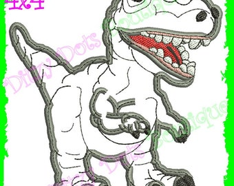 T Rex Machine Embroidery Design Applique and Fill