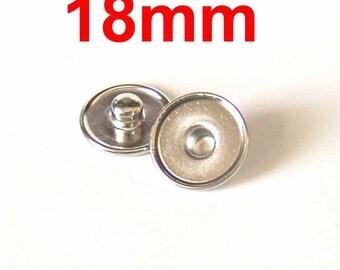 18mm Snap Charm Stud DIY 20 Count