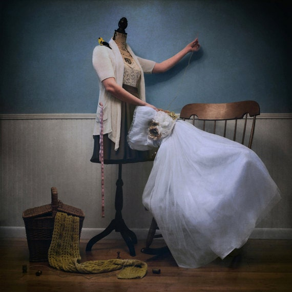 The Seamstress - LIMITED EDITION, Matted Print, Surreal, Whimsical, Fine Art Photography