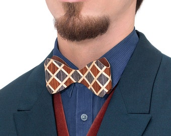 Wooden Bow Tie - TWEED / gift for men, gift ideas, unique gift, wooden accessories