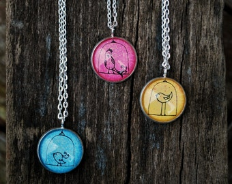 Little Bird on a Swing Necklace