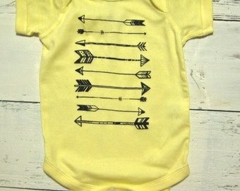 Cool Arrows baby onesie. Strait Arrows baby one piece.
