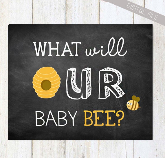 Gender Reveal Girl Or A Boy What Will It Bee Chalkboard Sign