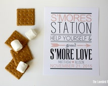 Smore Favor Sign - Smore Love - S'more Bar Sign - S'more Station - PDF - DIY AA4