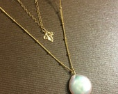 Coin Pearl Necklace or Necklaces for Bridesmaids