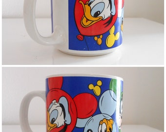Vintage Disney mug - Made in Korea - Donald Duck - Goofy - Pluto - Minnie Mouse - Mickey Mouse - coffee cup