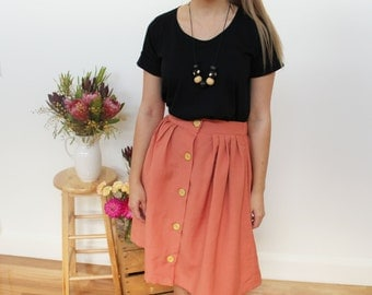 SALE!! A-line winter orange skirt