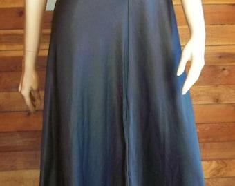 Vintage Lingerie 1960s VANITY FAIR Black Nightgown Size 32