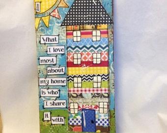 House Decor | Housewarming Gift | Mixed media house